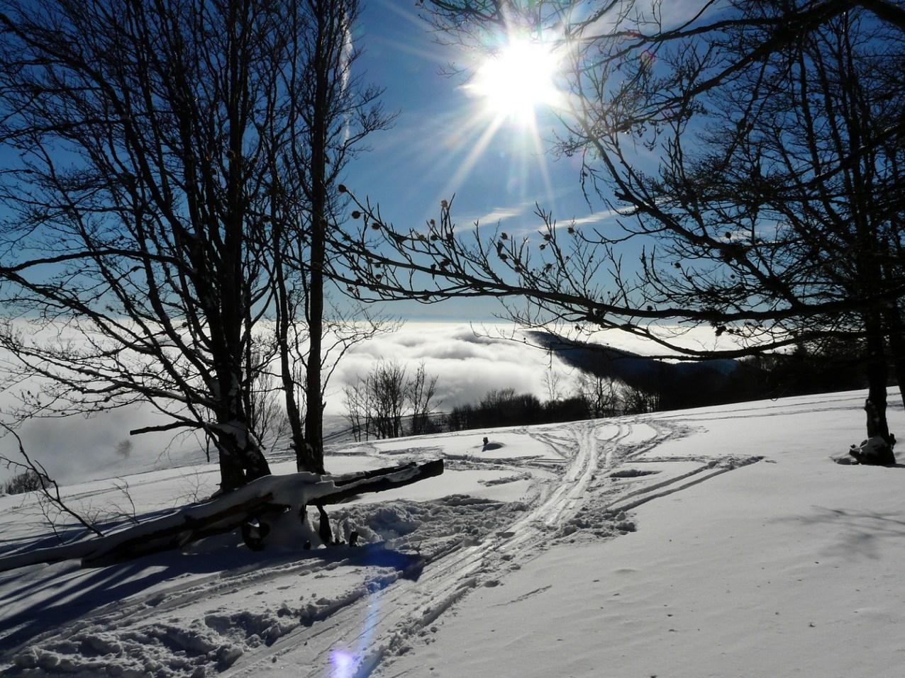 Journée de ski au Grand-Ballon un jour de nouvel an.