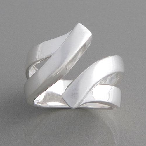 Silberring im tollen Design Ringgre 52 bis 62