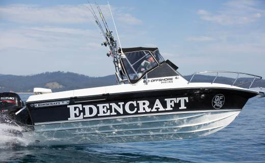 Edencraft 6.0m Offshore boat launches from the water