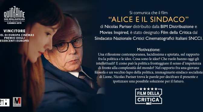 Alice e il Sindaco : 14.40 / 17.00 / 21.45