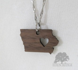 Iowa Keepsake Necklace