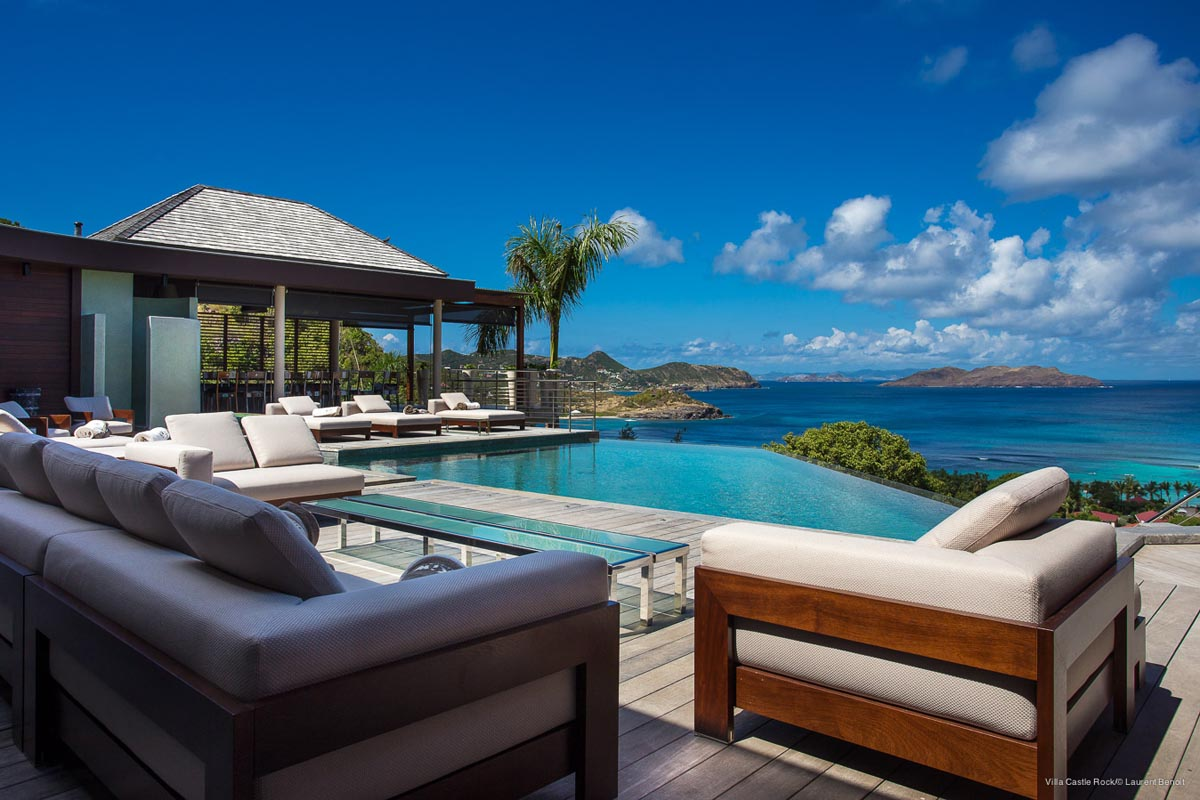 beach chairs and umbrella dining chair with armrest ultraluxe villas in st barts | eden rock villa rental
