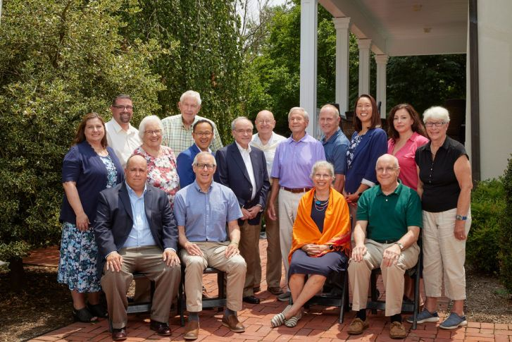 Edenwald's Board of Directors group photo outdoors