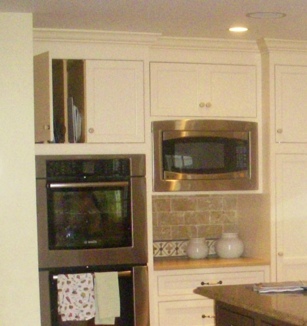Wall Oven Microwave Built in Cabinets