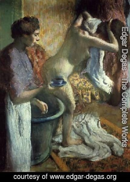 Edgar Degas  The Complete Works  Breakfast after a bath