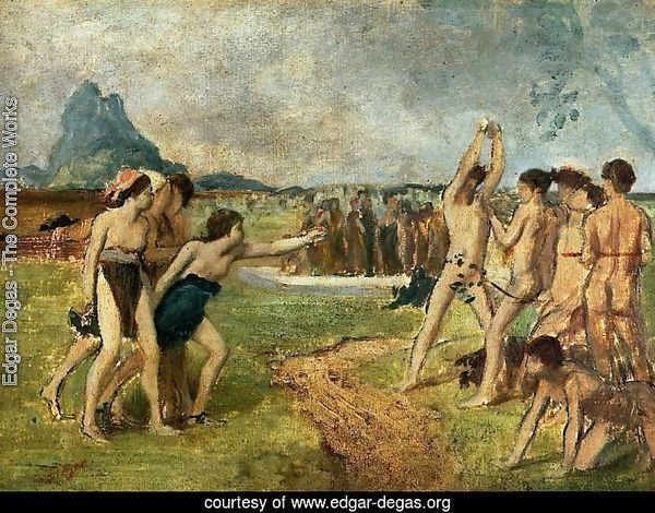 Edgar Degas The Complete Works Young Spartans