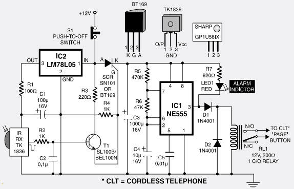 Long-Range Cordless Burglar Alarm Circuit and Its Working