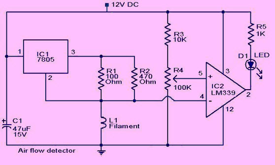 dld mini projects circuit diagram 24vdc alternator wiring simple electronic circuits for engineering students air flow detector