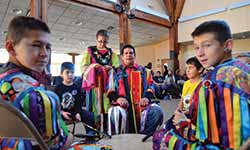 Dancers, top, and drummers took part in the Eagle & the Condor Ceremony in St. Paul.