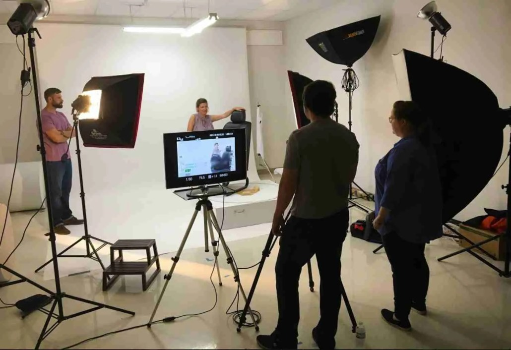 Working in a Video production studio