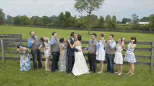 Wedding Party in a field