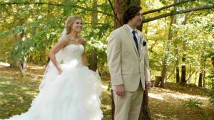 Bride and Groom do their first look