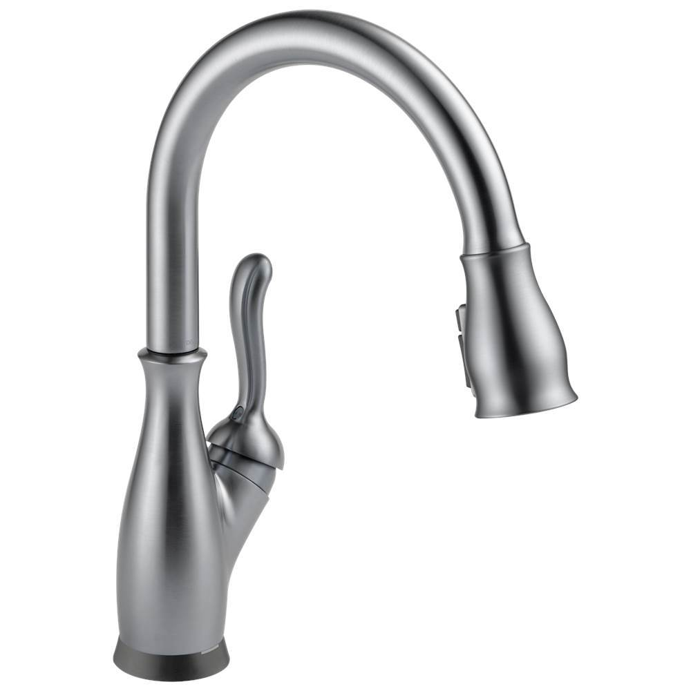 leland single handle pull down kitchen faucet with touch2o and shi