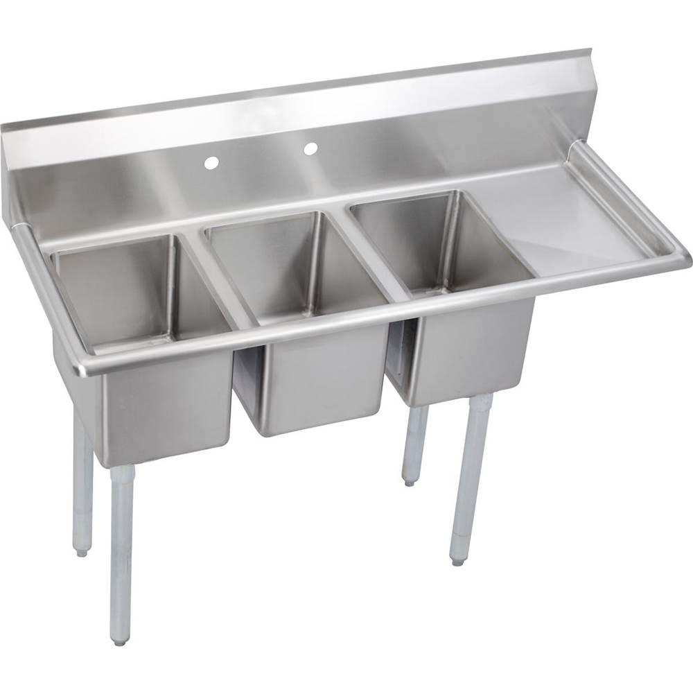 elkay stainless steel 48 1 2 x 19 3 4 x 46 16 gauge three com