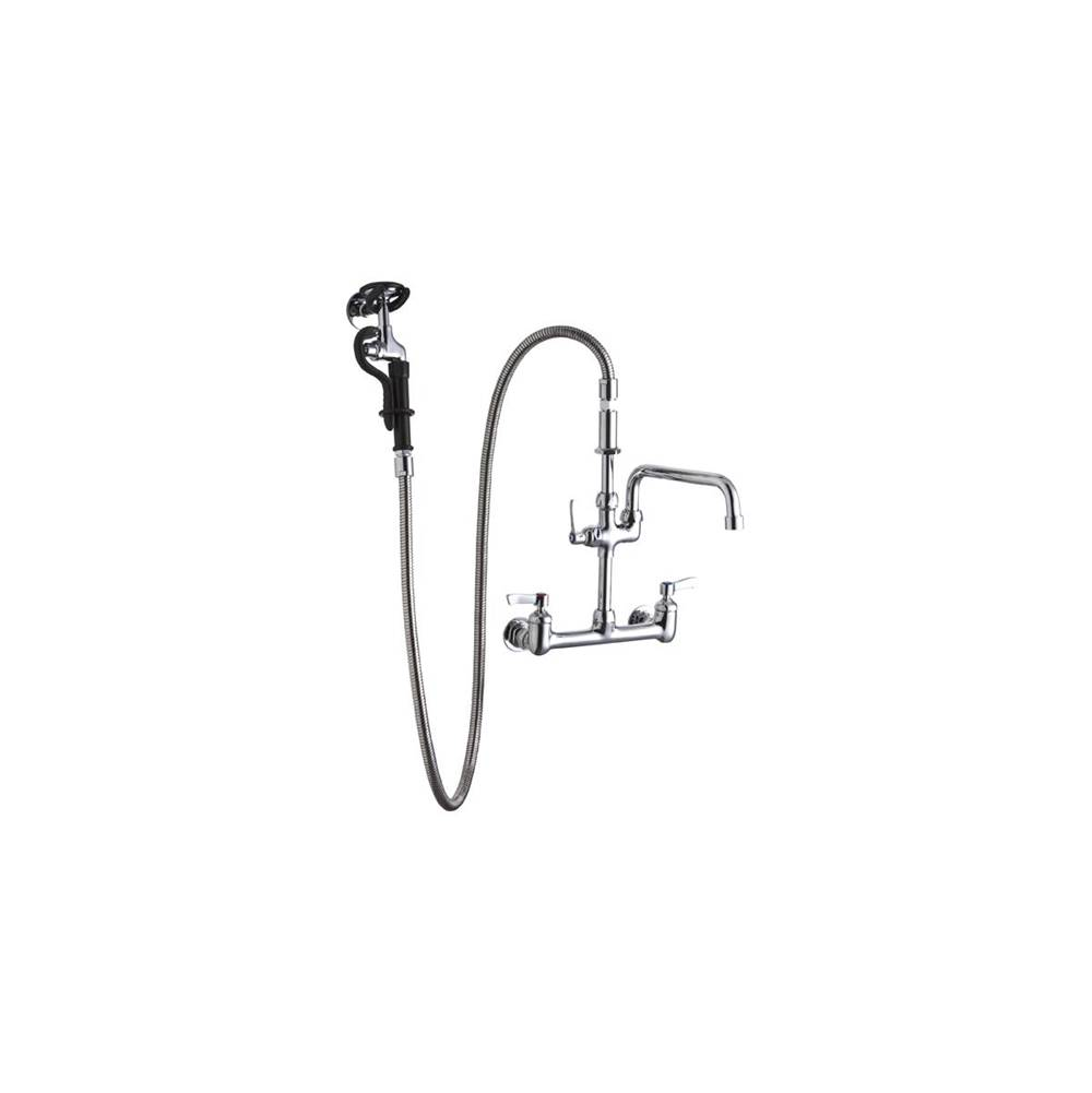 elkay 8 centerset wall mount faucet 60in flexible hose with 1 6 g