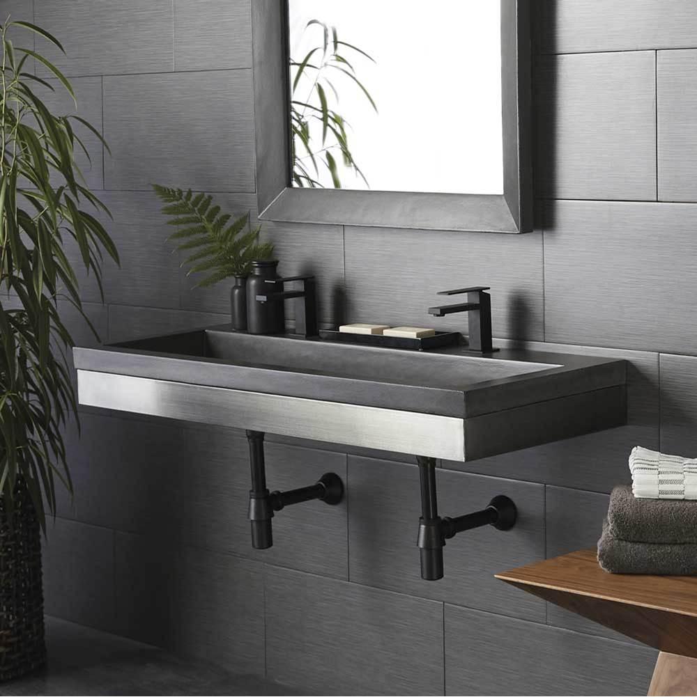 48 zaca vanity base with nativestone trough in slate