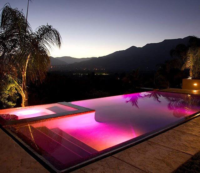 lighting ideas for backyards inground