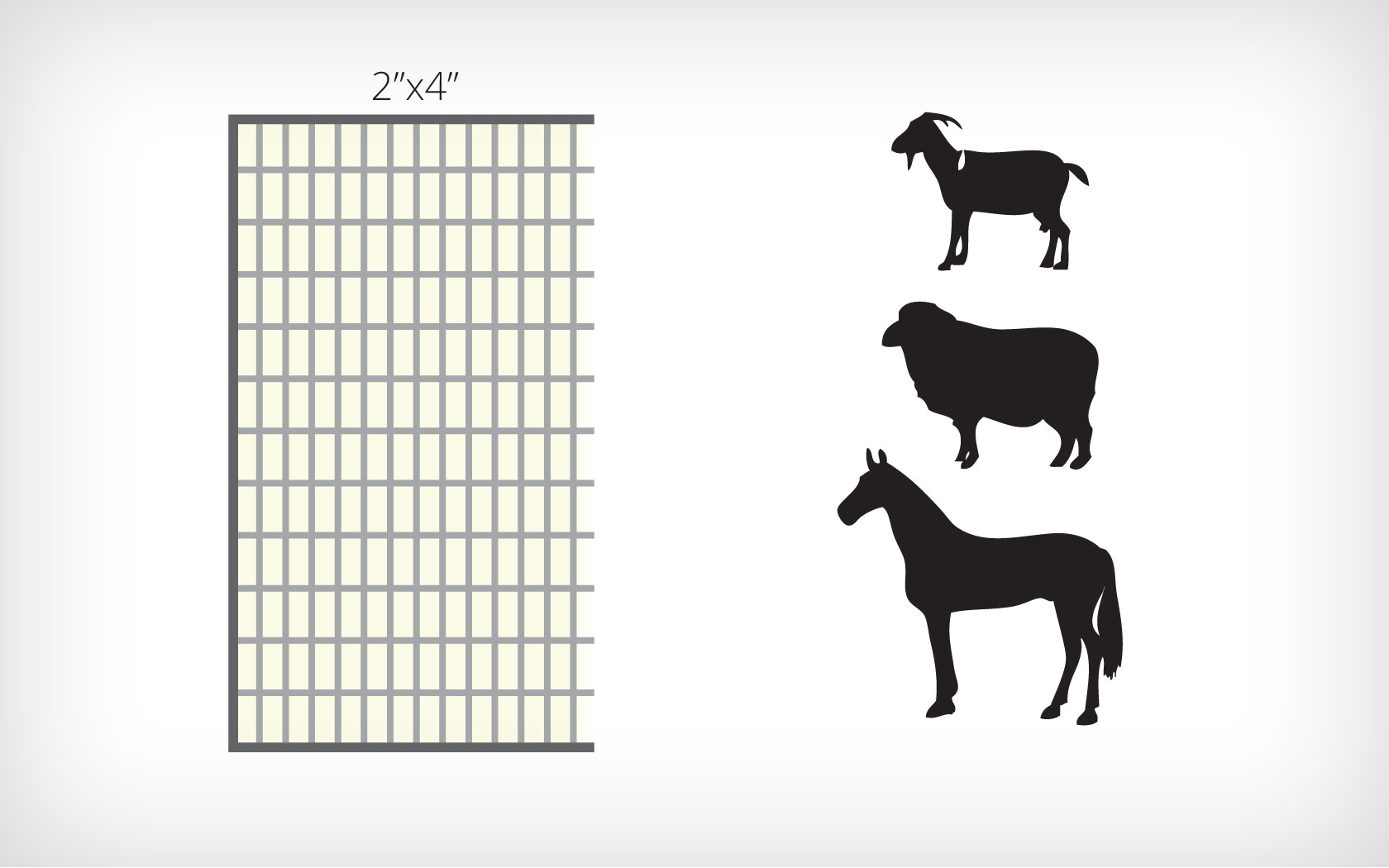 hight resolution of corral panels for horse sheep goats