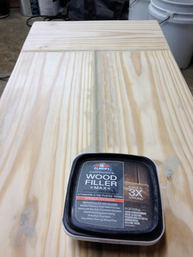 Filling in the gaps with wood filler