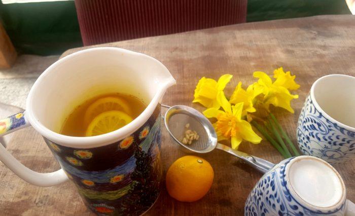 tumeric ginger lemon drink