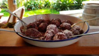 Raspberry rosemary chocolate fudge