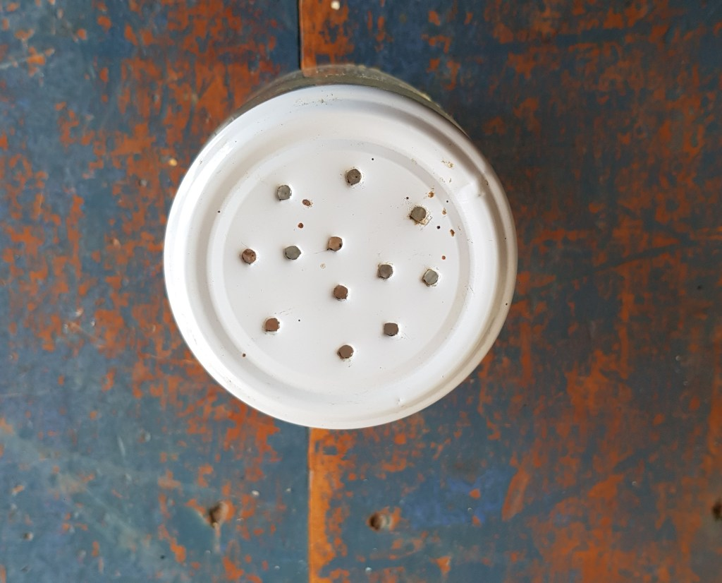 jar with holes in the lid for soaking beetroot seed