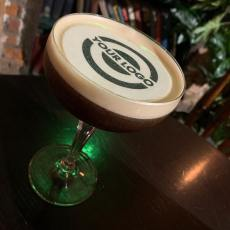 Espresso martini with your logo drink topper