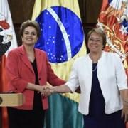 Dilma Rousseff, Presidenta de Brasil asegura que una meta de su gobierno es concretar corredor al Puerto de Iquique
