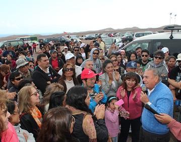 Jorge Soria lucha junto a cooperativas por proyecto habitacional de Lobitos Más de 350 se reunieron con el líder regionalista
