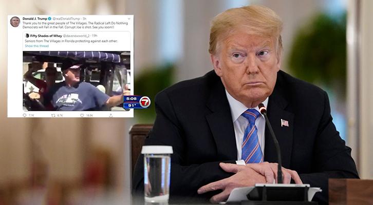 Nuove polemiche negli Usa per un tweet di Donald Trump su di un video di sostenitori in Florida