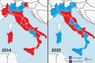 Elezioni Regionali. 15 Regioni al Centrodestra, 5 alla sinistra