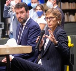 Processo Gregoretti. L'avvocato Giulia Bongiorno durante il dibattimento