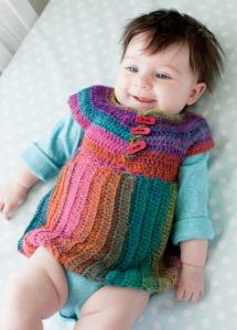 Prism Pinafore One-Skein Wonders for Babies