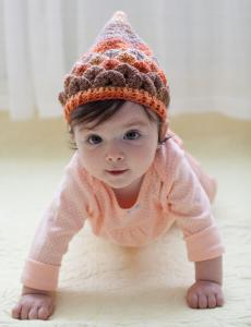Crocodile Stitch Pixie Hat One-Skein Wonders for Babies