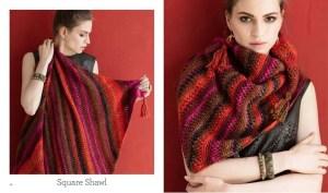 Knit Noro Square Shawl