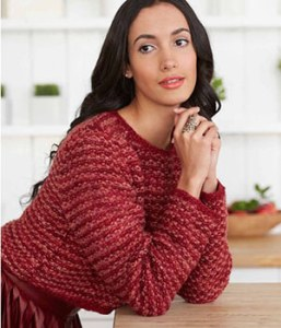 Seed Stitch Cropped Pullover