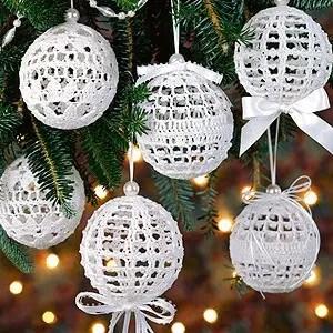 Christmas Snowballs Thread Crochet Ornaments Leisure Arts