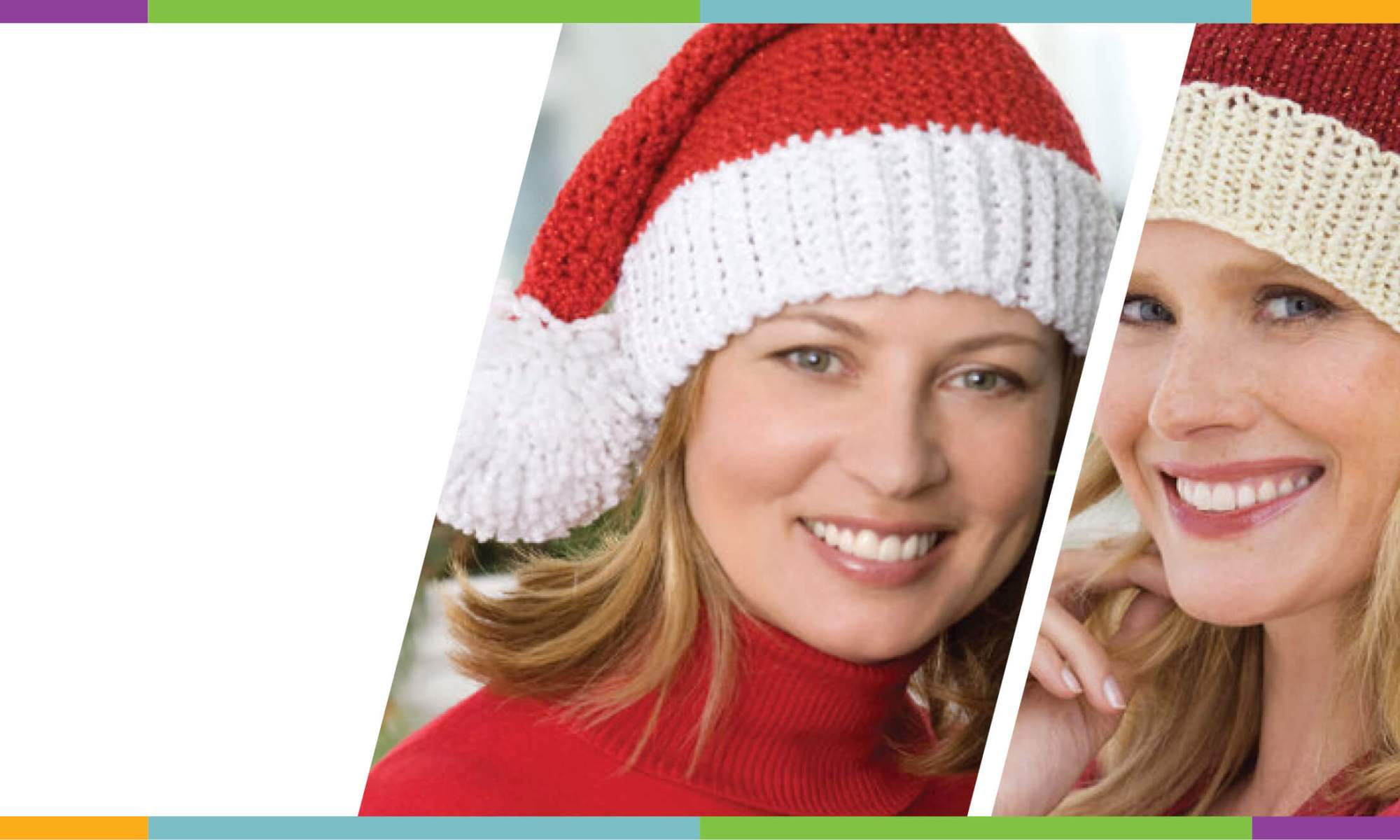 free Santa Hat pattern knit crochet