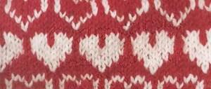 Valentine's Knit Hearts All Around Hat