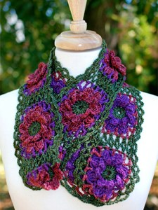 Fall Flowers Cowl Crochet Pattern