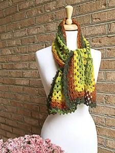 Modern Granny Scarf Crochet Pattern