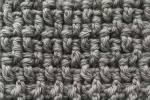 Double Crochet Rice Stitch Swatch