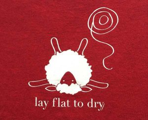 Lay Flat to Dry graphic from KnitBaahPurl