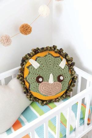 Tops the Dinosaur Pillow Crochet Animal Rugs by Ira Rott