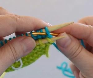 How to Graft Garter Stitch Step 3