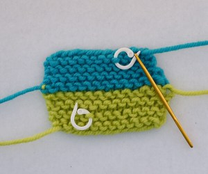 How to Graft Garter Stitch completed