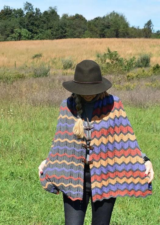 Knit Absaroka Poncho by Edie Eckman