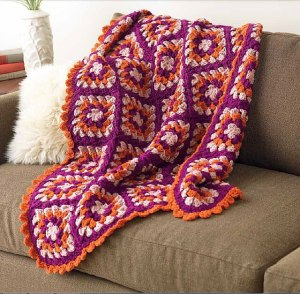 "Mod Retro Afghan from ""Unexpected Afghans"""