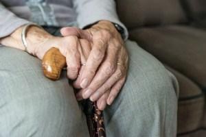Hands-elderly woman