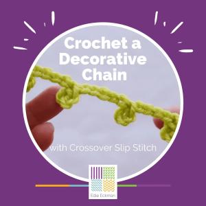 Crochet a Decorative Chain with Crossover Slip Stitch graphic